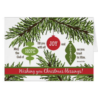 ORNAMENTS Folded Scripture Christmas Card