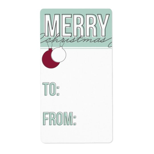 Ornaments Holiday Gift Tag