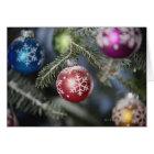Ornaments on a Christmas tree Card