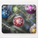 Ornaments on a Christmas tree Mouse Mat