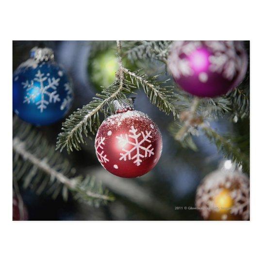 Ornaments on a Christmas tree Postcard
