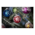 Ornaments on a Christmas tree Poster
