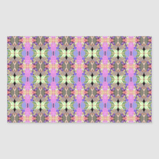 Ornate Abstract Pattern Rectangular Sticker