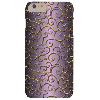 Ornate Antique Baroque Faux Gold Swirl Pattern Barely There iPhone 6 Plus Case