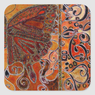 ornate art deco butterfly  (painting) sticker