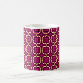 Ornate barbed quatrefoil (color adjustable) coffee mug