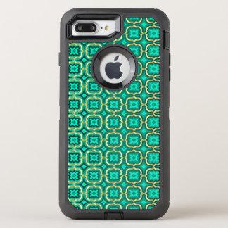 Ornate barbed quatrefoil (color adjustable) OtterBox defender iPhone 7 plus case