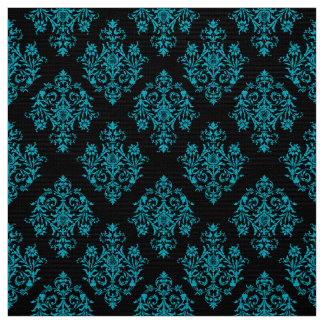 Ornate Baroque black Damask pattern fabric