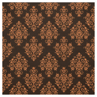 Ornate Baroque brown Damask pattern fabric