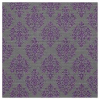 Ornate Baroque gray Damask pattern fabric