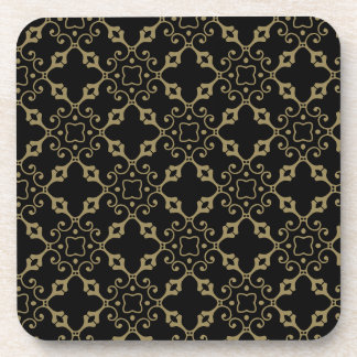 Ornate Black and Gold Coaster