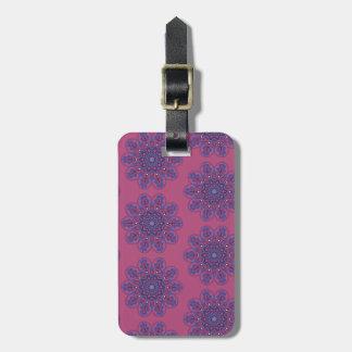 Ornate Boho Mandala Luggage Tag