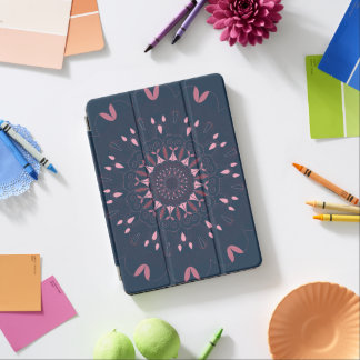 Ornate Boho Mandala Navy and Rose iPad Air Cover