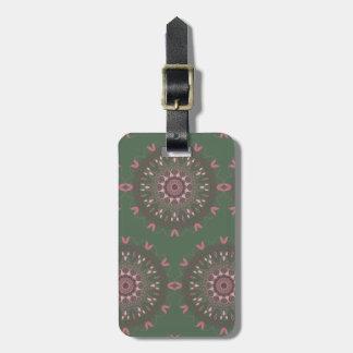 Ornate Boho Mandala Olive Luggage Tag