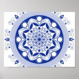 Ornate Boho Mandala Poster