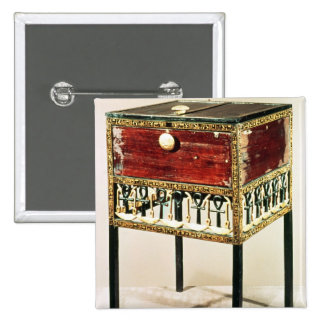 Ornate cabinet from the Treasure of Tutankhamun 15 Cm Square Badge