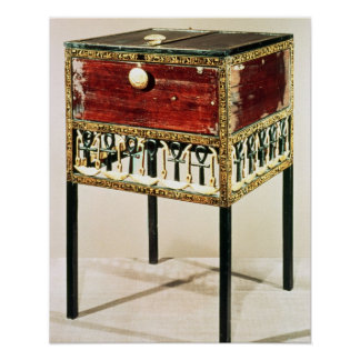 Ornate cabinet from the Treasure of Tutankhamun Poster