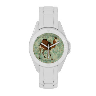 Ornate Camel Damask Watch