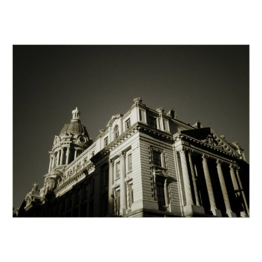 Ornate Centre Street Building, All Sizes Print
