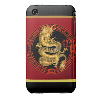 Ornate Chinese Year of the Dragon 2012 iPhone 3 Case