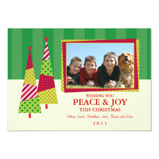 Ornate Christmas Tree and Frame Photo Card 13 Cm X 18 Cm Invitation Card