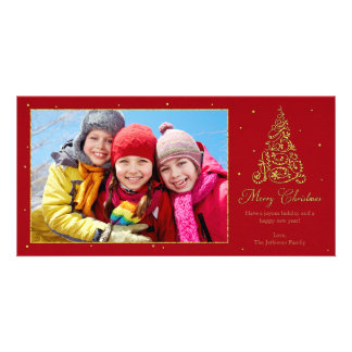 Ornate Christmas Tree Gold Card