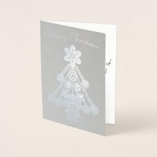 Ornate Christmas Tree Outline Foil Card