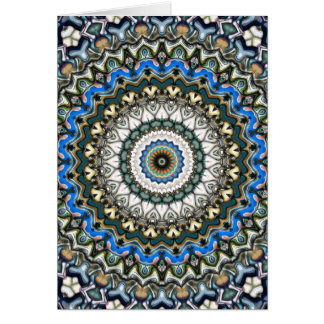 Ornate Colorful Mandala Card