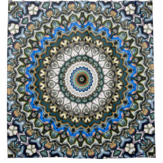 Ornate Colorful Mandala Shower Curtain