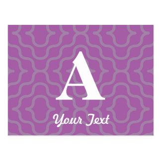 Ornate Contemporary Monogram - Letter A Postcard