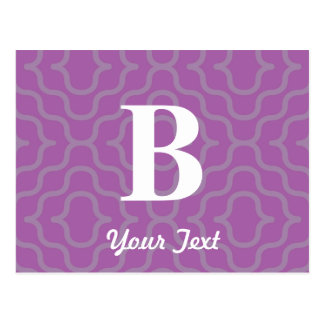Ornate Contemporary Monogram - Letter B Post Card