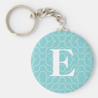 Ornate Contemporary Monogram - Letter E Basic Round Button Key Ring