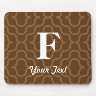 Ornate Contemporary Monogram - Letter F Mouse Pad