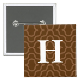 Ornate Contemporary Monogram - Letter H 15 Cm Square Badge