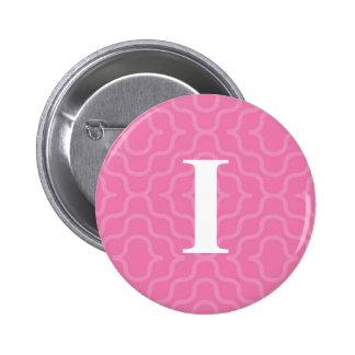 Ornate Contemporary Monogram - Letter I 6 Cm Round Badge