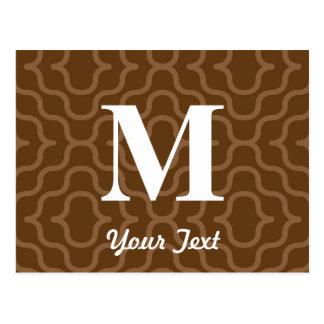 Ornate Contemporary Monogram - Letter M Postcard