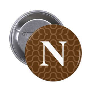 Ornate Contemporary Monogram - Letter N Pin