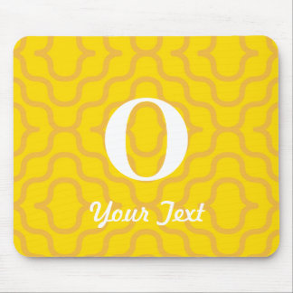 Ornate Contemporary Monogram - Letter O Mouse Pad