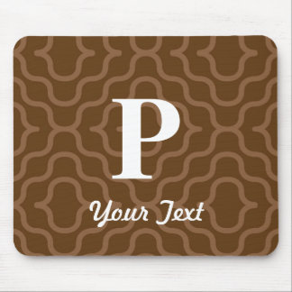 Ornate Contemporary Monogram - Letter P Mouse Pad