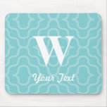 Ornate Contemporary Monogram - Letter W Mouse Pads