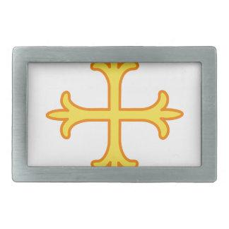 Ornate Cross Rectangular Belt Buckles