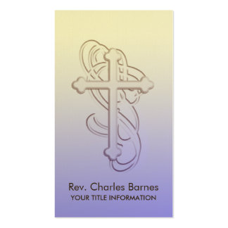Ornate Cross Business Card