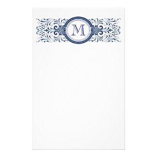 Ornate Customizable Monogram stationary Stationery