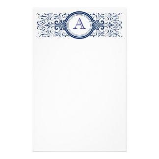 Ornate Customizable Monogram stationary Stationery Design