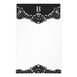 Ornate Customizable Monogram stationary Stationery Design