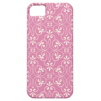 Ornate damask decorative pink iPhone 5 case