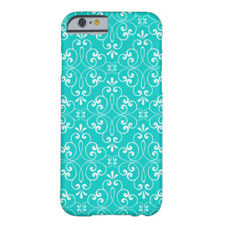 Ornate damask decorative teal aqua iPhone 6 case