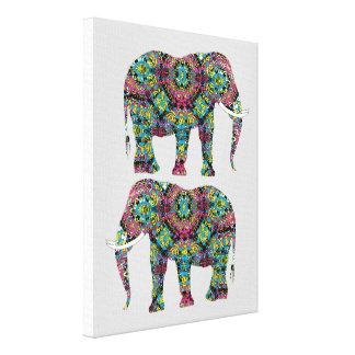 Ornate Decorated Indian Elephant Design Canvas Print