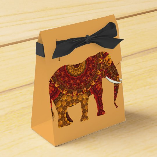 Ornate Decorated Indian Elephant Design Favour Box
