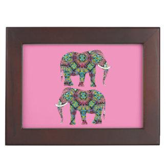 Ornate Decorated Indian Elephant Design Keepsake Box